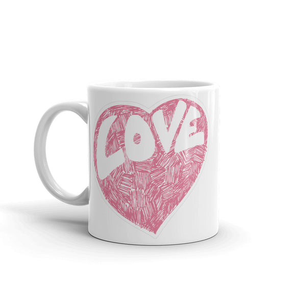 Cute Love Heart High Quality 10oz Coffee Tea Mug #4163