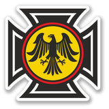 2 x German Eagle Crest Vinyl Sticker #4164
