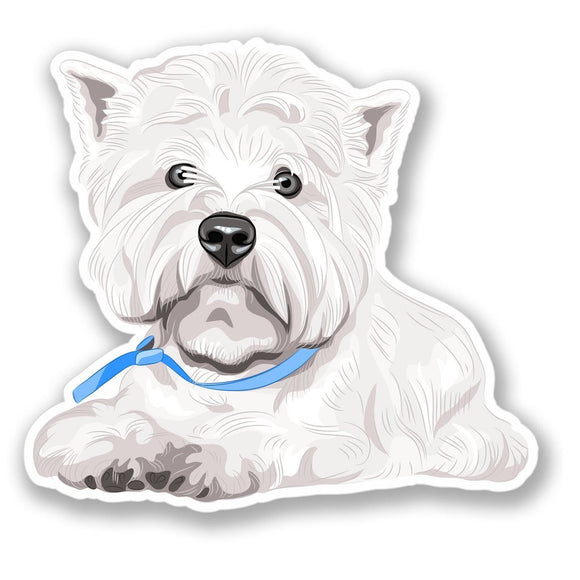 2 x West Highland Terrier Dog Vinyl Sticker #4166