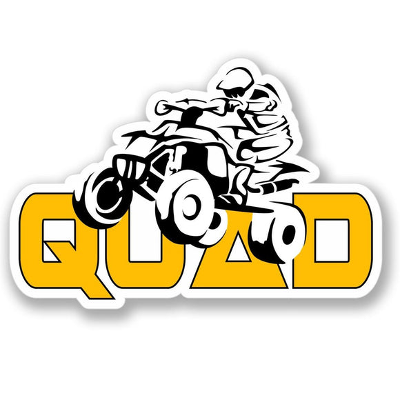 2 x Quad Bike Vinyl Sticker #4168
