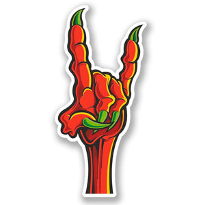 2 x Zombie Monster Claw Hand Rock Vinyl Sticker #4170