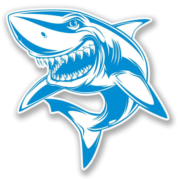 2 x Great White Shark Vinyl Sticker #4172