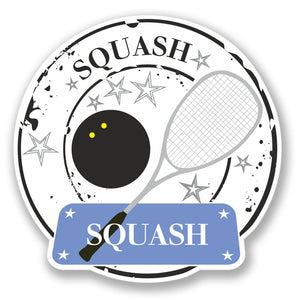 2 x Squash Player Vinyl Sticker #4174