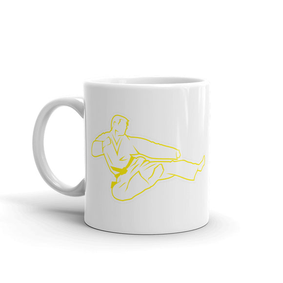Karate Yellow Belt High Quality 10oz Coffee Tea Mug #4180