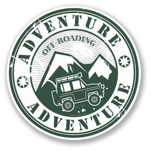 2 x Adventure Off-Roading Vinyl Sticker #4189