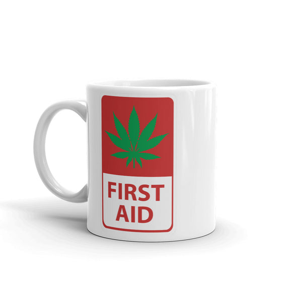 First Aid Marijuana High Quality 10oz Coffee Tea Mug #4190