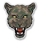2 x Camo Panther Vinyl Sticker #4198