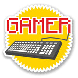 2 x Retro Gamer Vinyl Sticker #4199