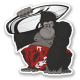 2 x Surf Gorilla Vinyl Sticker #4203