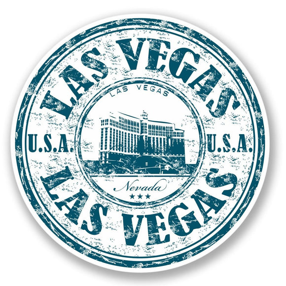 2 x Las Vegas USA Vinyl Sticker #4209