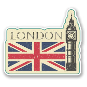2 x London Big Ben Vinyl Sticker #4213