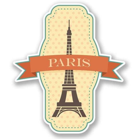 2 x Paris France Vinyl Sticker #4218
