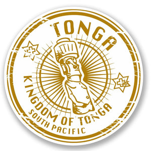 2 x Kingdom of Tonga Vinyl Sticker #4221