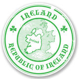 2 x Republic of Ireland Vinyl Sticker #4223