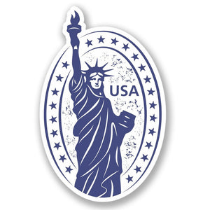 2 x USA America Vinyl Sticker #4229