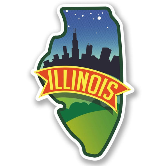 2 x Illinois USA Vinyl Sticker #4234