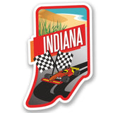 2 x Indiana USA Vinyl Sticker #4235