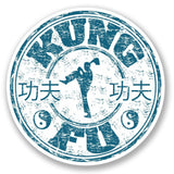 2 x Kung Fu Travel Vinyl Sticker #4244