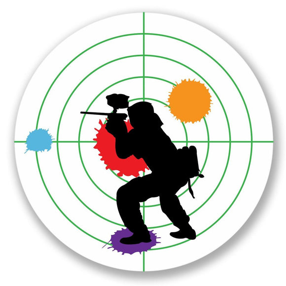 2 x Paintball Travel Vinyl Sticker #4245