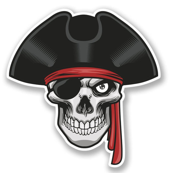 2 x Jolly Roger Skull Travel Vinyl Sticker #4255