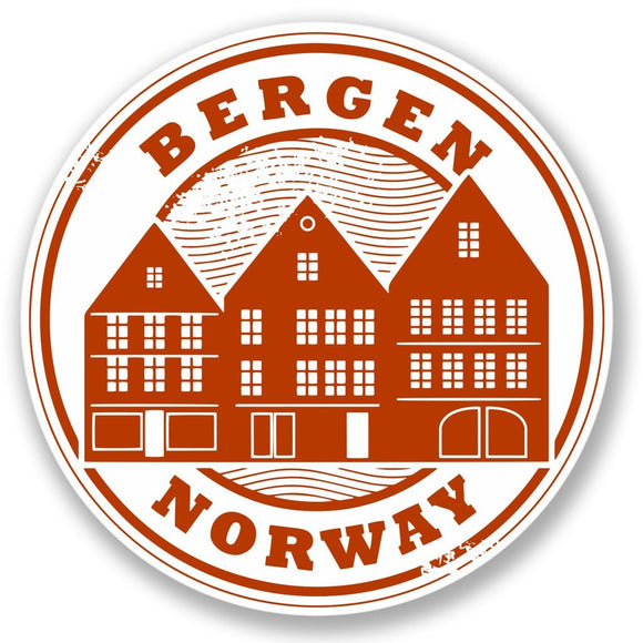 2 x Bergen Norway Travel Vinyl Sticker #4256
