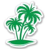 2 x Palm Tree Vinyl Sticker #4261