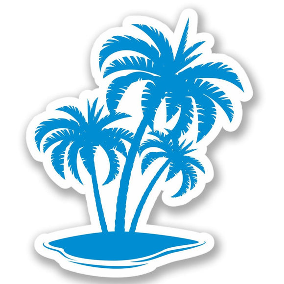 2 x Palm Tree Vinyl Sticker #4262
