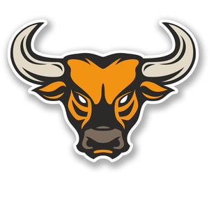 2 x Bull Head Vinyl Sticker #4263
