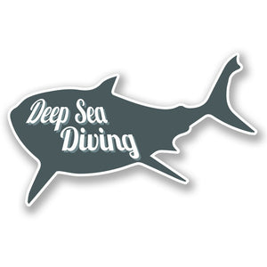 2 x Deep Sea Diving Vinyl Sticker #4269