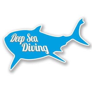 2 x Deep Sea Diving Vinyl Sticker #4270