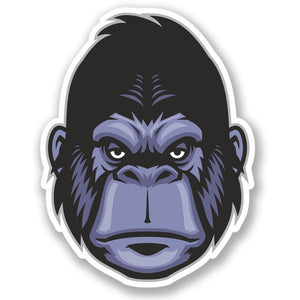 2 x Monkey Gorilla Vinyl Sticker #4274