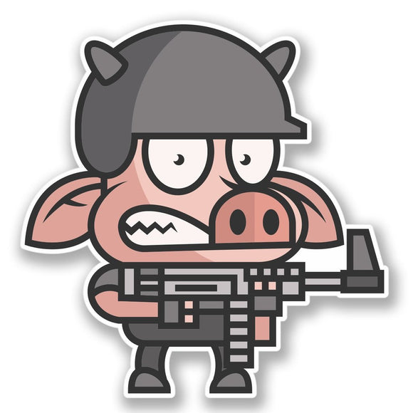 2 x Army Pig Vinyl Sticker #4278