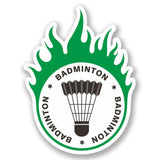 2 x Badminton Vinyl Sticker #4279