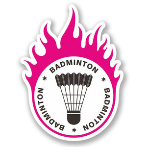 2 x Badminton Vinyl Sticker #4280