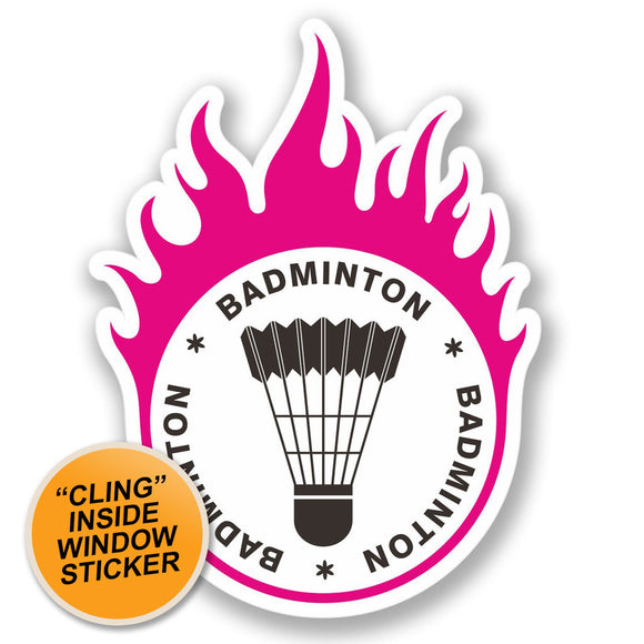 2 x Badminton WINDOW CLING STICKER Car Van Campervan Glass #4280