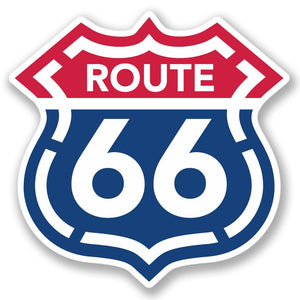 2 x USA Route 66 Vinyl Sticker #4290
