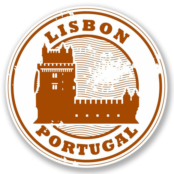 2 x Lisbon Portugal Vinyl Sticker #4294