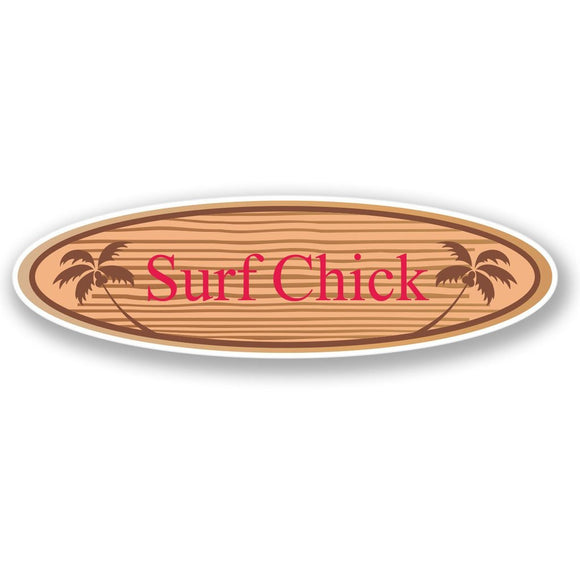 2 x Surf Chick Vinyl Sticker #4299