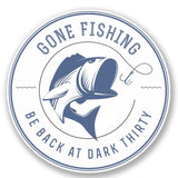 2 x Gone Fishing Vinyl Sticker #4300