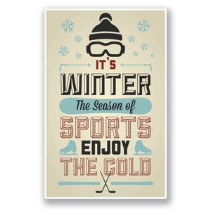 2 x Winter Sports Vinyl Sticker #4308