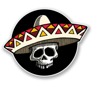 2 x Mexican Sombrero Day of the Dead Vinyl Sticker #4309