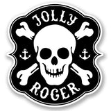 2 x Jolly Roger Skull Vinyl Sticker #4313