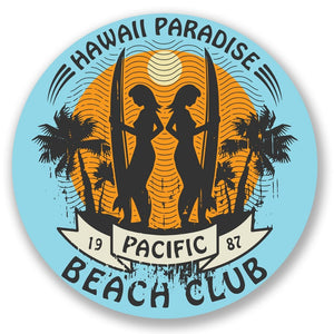 2 x Hawaii Surf Vinyl Sticker #4318