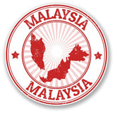 2 x Malaysia Vinyl Sticker Decal Laptop Travel Luggage Car #4326