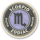 2 x Scorpio Star Sign Vinyl Sticker Decal Laptop Travel Luggage Car #4327