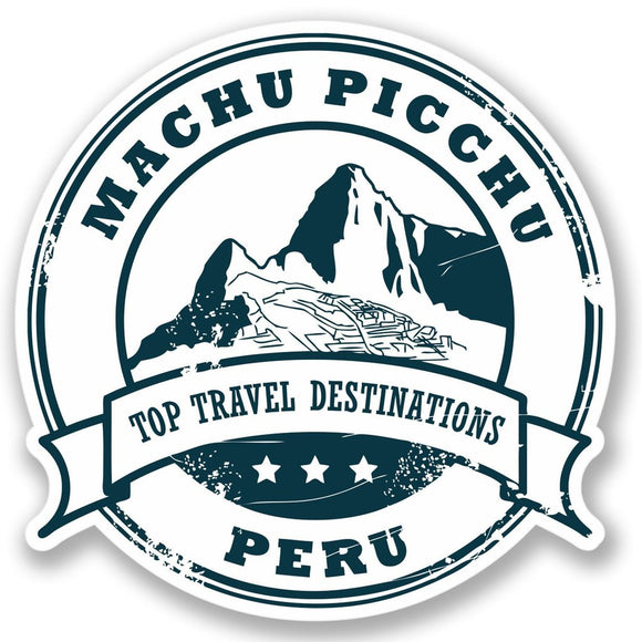 2 x Machu Picchu Peru Vinyl Sticker Decal Laptop Travel Luggage Car #4328