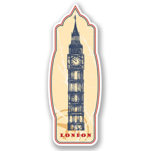 2 x London Big Ben Luggage Travel Vinyl Sticker #4330