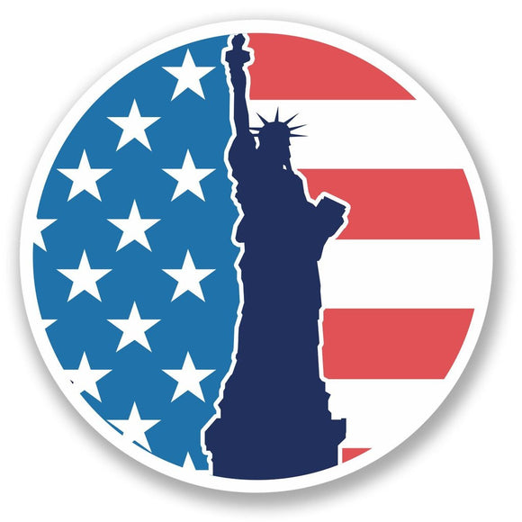 2 x America Statue of Liberty Vinyl Sticker #4344