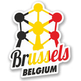 2 x Brussels Belgium Vinyl Sticker #4347