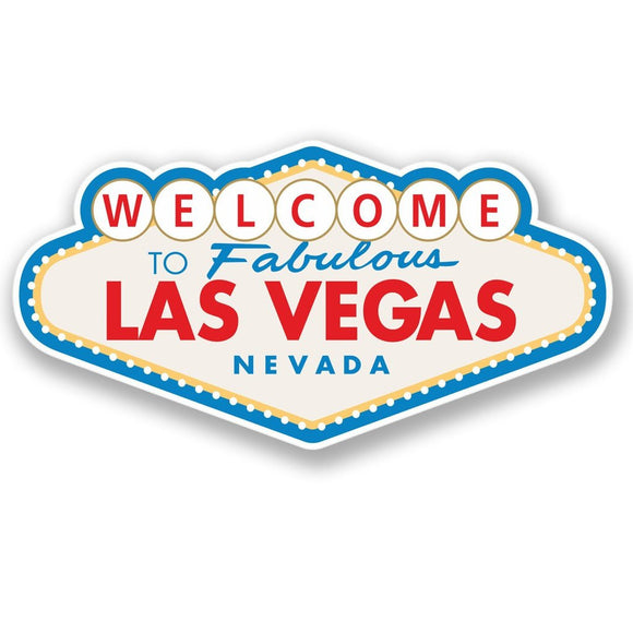 2 x Las Vegas Sign Vinyl Sticker #4349